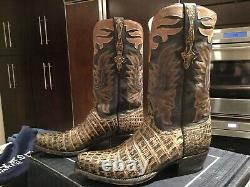 Lucchese New Classic Nile Crocodile Limited Edition Bottes Pour Hommes Taille 8,5d