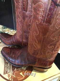 Lucchese New Classic Ultra Belly Caiman Boots Homme/ 10d