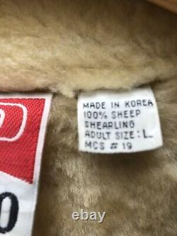 Marlboro Man Genuine Shearling Rancher Western Suede Leather Coat Jacket Schott