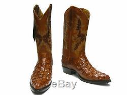 Mens Cognac Alligator Retour Modèle En Cuir Bottes De Cow-boy J Toe Rodeo Botas Rancho