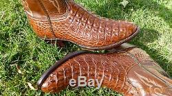 New Lucchese Classics Nile Corne Retour Alligator Crocodile Bottes Exotiques 10,5 D