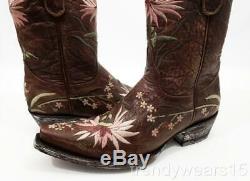 New Sz $ 7 430 Old Gringo L575-6 Ellie 10 Brass Rose Floral Western Cowboy Bottes