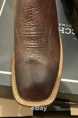 Nouveau! 575 $ Lucchese Bond Sz 11 Cl1556. Wfs Chocolate Elk Bottes Cowboy. Fabriqué Aux États-unis