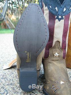 Nouveau Dames Laredo Keyes Stars And Stripes Patriotique Cuir Bottes De Cow-boy De L'ouest