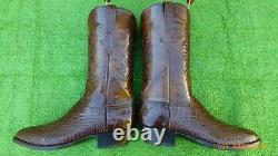 Nouveau Lucchese Classics Inlay American Alligator Rare Exotique Western Boot 10,5 D