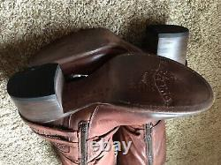 Nwob Freebird Par Steven Coy Studded Leather Rustsz10 Rare