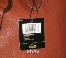 Nwt Frye Sac En Cuir Ring Tote Épaule Bourse Femmes Cognac Brown Pdsf 428 $