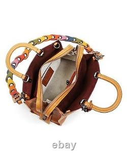 Nwt In Plastic Coach1941 Glovetanned Pebble Leather Rogue Link Strap Saddle 950 $