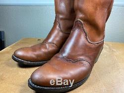 Olathe Bottes Made In USA En Cuir Brun Western Cowboy Bottes Hommes Taille 9d