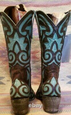 Old Gringo Greeks Womens Boot Chocolate & Turquoise 8,5 (599,99 $)