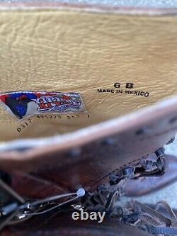 Old Gringo Pereyra Yippee Ki Yay Bottes De Cowboy Rouille/chocolat Taille 6 Fringe