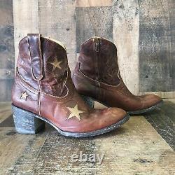 Old Gringo Star En Cuir Inlay Cowboy Bottes Femmes 8 B