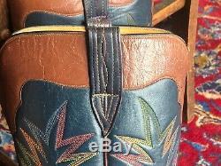 Paul Bond Custom Made Bottes Hautes De Cowboy, Sz 11-11 1/2
