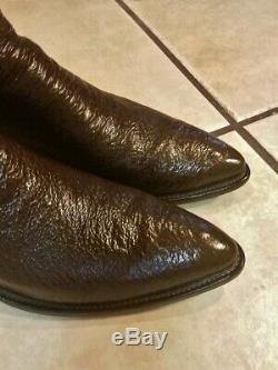 Paul Bond Personnalisé Brown Exotique Sharkskin Cowboy Bottes 12-13 D Medium
