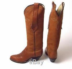 Ralph Lauren Grand Brown Cowboy Bottes Femme Sz 6,5m De Excellente