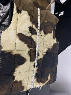Ralph Lauren Grande Veste De Veste Rrl Polo Rugby Brown Leather XL Cow Western Ranch