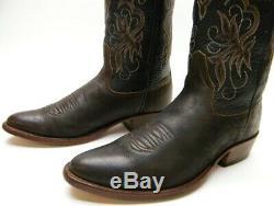 Ralph Lauren Mens Rrl & Co Rr Brown En Cuir Cowboy Western Bottes Sz 10 D 10d