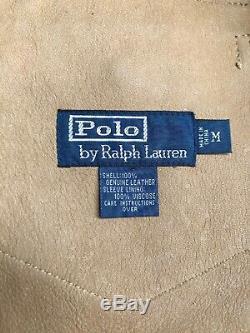 Ralph Lauren Polo Vintage Veste Cuir De Chevreau Western Indian Rrl 80 Tan M