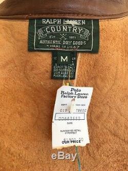 Ralph Lauren Vtg Tooled Main En Cuir Sud Ouest Veste Etats-unis Rare $ 1900 Tn-o