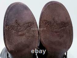 Rare 295 $ Sz 8 Freebird Par Steven Coy Olive Brown Strappy Clouté MID Bottes De Veau