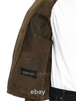 Rare Tom Ford Pour Gucci S/s 2004 Runway Men's Leather Western Jacket It. 52 42