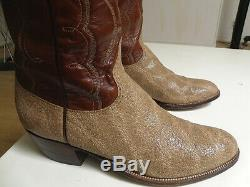 Rare! Vintage Lucchese San Antonio Exotiques Spotted Hippo Western Bottes 10,5 D Bid