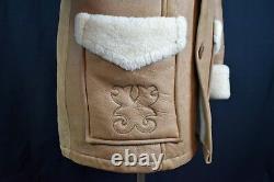 Rare! Vtg Homme Stetson Sheepskin Leather Jacket Real Shearling Coat Western 40