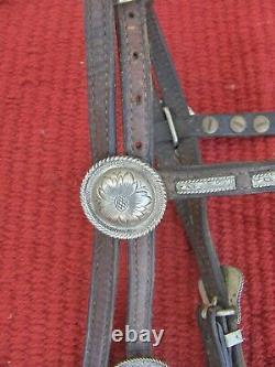 Showithtrail Shoco Western Simco Headstall/bridle + Reins De Rommel D'affectation