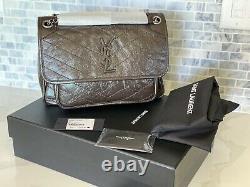 T.n.-o. Ysl Niki Sac Moyen Western Moka Dark Brown Yves Saint Laurent Pdsf 2390 $