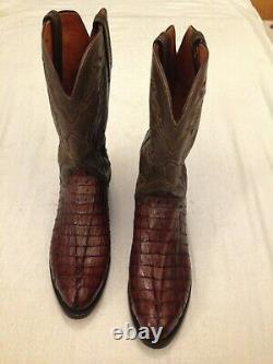 Taille11.5 Lucchese Exotic Crocodile Western Boots
