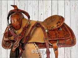 Team Roping Cutting Western Saddle 16 17 Pleasure Trail Horse Western Tack Set