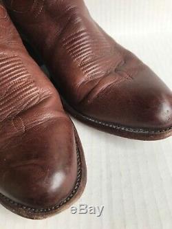 Tecovas Bottes Hommes Cartwright Classique Cowboy Bourboun Veau Sz 12d. Nouveau Sole