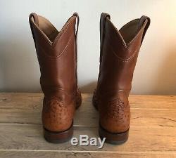 Tecovas Bottes Le Duc Bottes Autruche Cowboy Taille 10.5 D