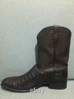 Tecovas Le Cole Caiman Bottes De Cowboy De L'ouest Hommes Taille 12 D Chocolat