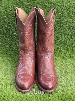 Tecovas Le Cowboy De Nolan Bottes En Cuir Occidental Bourbon Lizard 10,5 D