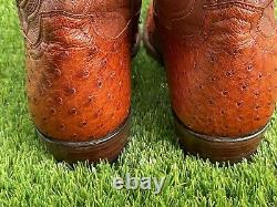 Tecovas Les Bottes De Cowboy Exotique Wyatt Pecan Ostrich Sz 10,5 Ee