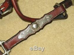 Terrific Haut De Gamme Vintage Shaped Western Voir Halter Avec Lovely Corde Edge Argent