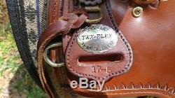 Tex Tan Tex Flex Gaited A-fork Bear Trap Ouest Équestre Selle 17,5