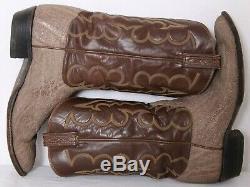 Tony Lama 0933 El Rey Elephant Vtg Pull-on Brown Cowboy Bottes Us 12.5d Hommes