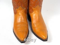 Tony Lama Classique Cowboy Bottes Hommes Sz 10d Tan Brown Vintage 1960