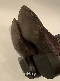 Tony Lama El Rey Collection Bottes De Cow-boy Pirarucu Water Giant 9.5 D Exotique Rare