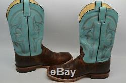 Tony Lama Men 10,5 D Cabra Miel Cowboy Bottes Riding Bout Carré De Tl3002