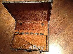 Tooled Ouest Cuir 6 Bay Guitar Rack, Support Case Fender Gibson Martin Prs