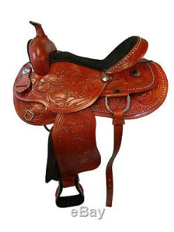 Trail Selle 17 16 15 Pleasure Comfy Floral Tooled Afficher Western Set Cheval Tack