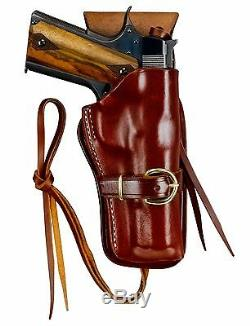 Triple K Cheyenne Holster Western & Drop Belt Combo Colt 1911 Taille Grande