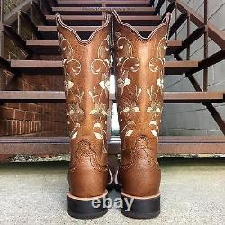Twisted X Femme Floral Ruff Stock Square Toe Cowgirl Boots Wrs0025