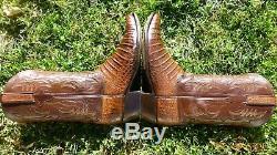 Ventre Lucchese Classics Alligator Crocodile Cut Bottes Rares Occidentaux Exotiques 12 D