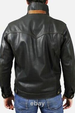 Veste De Camionneur En Cuir Frye Moto Moto Moto Taille Moto 2xl / XXL
