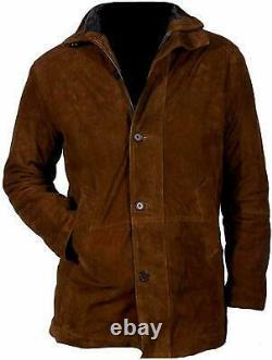 Veste Western Pour Hommes Buckskin Suede Cuir Native American Coat