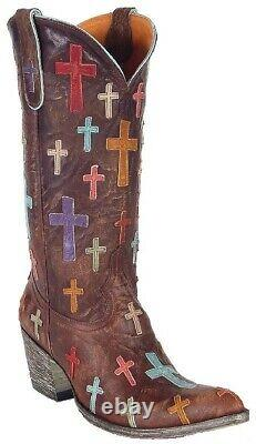 Vieux Gringo Ooh My God Brown Boots Taille 7